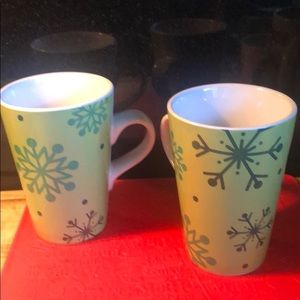 Large Snow Flakes Coffee Cups